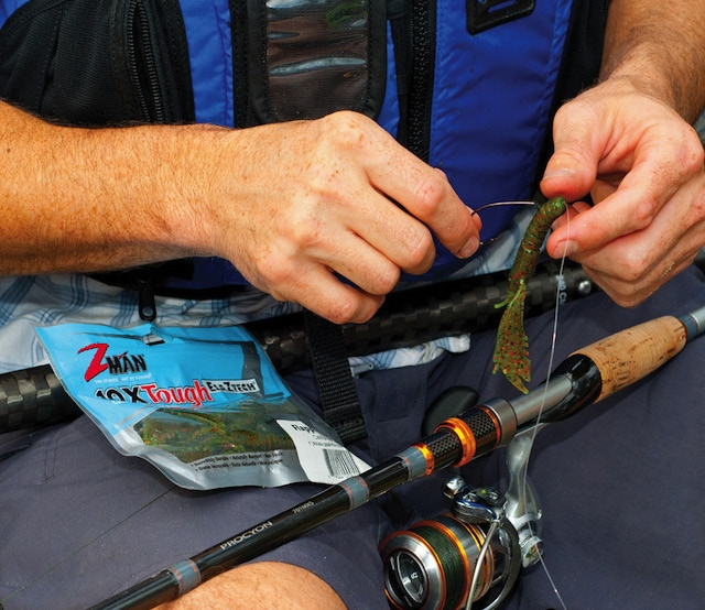 New eco-friendly lures like Z-Man's creature bait are non-toxic and biodegradable. Photo: Chris Funk
