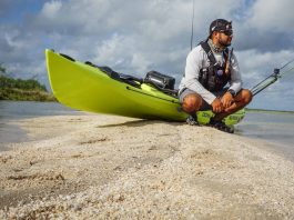 Angler scouts a spot to fish in Baffin Bay Texas