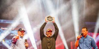 FLW/KBF champion on stage