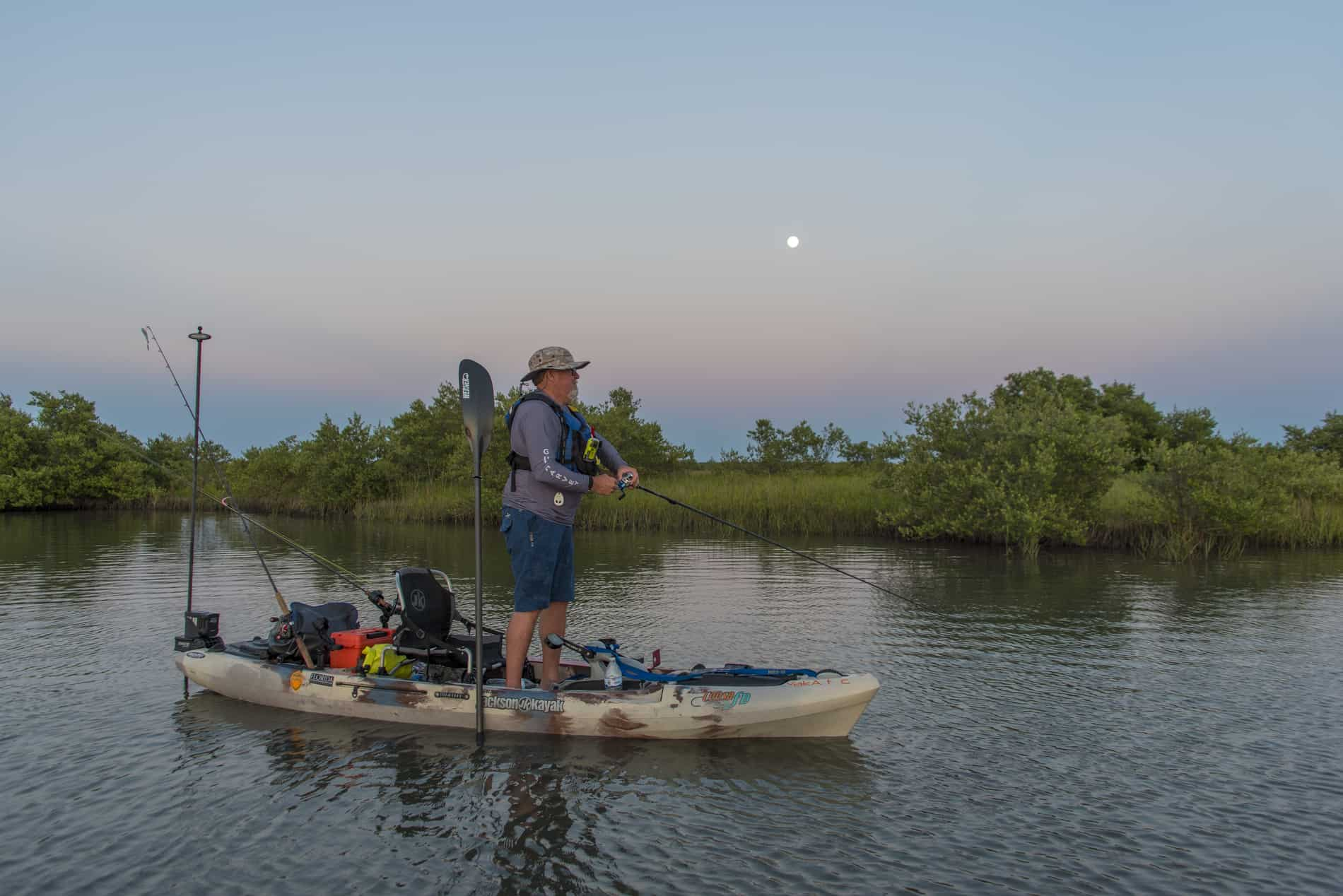 Anchoring systems keep the kayak in place.   Photo: Will Richardson