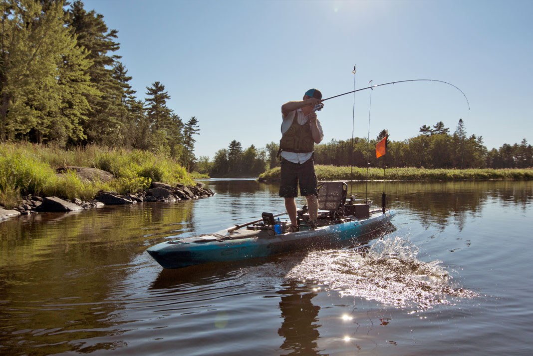Kayak angler fishing during 2021, an unprecedented year for the industry and its trends