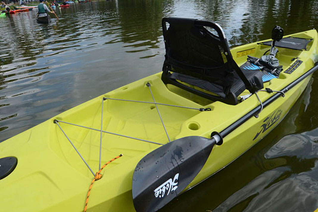 stern of the Hobie Mirage Compass kayak