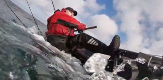 fishing kayak capsizes due to a porbeagle shark