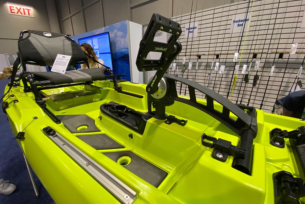 Bonfide Kayaks P127 pedal fishing kayak at ICAST 2021