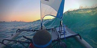freak wave breaks sea kayak in two places