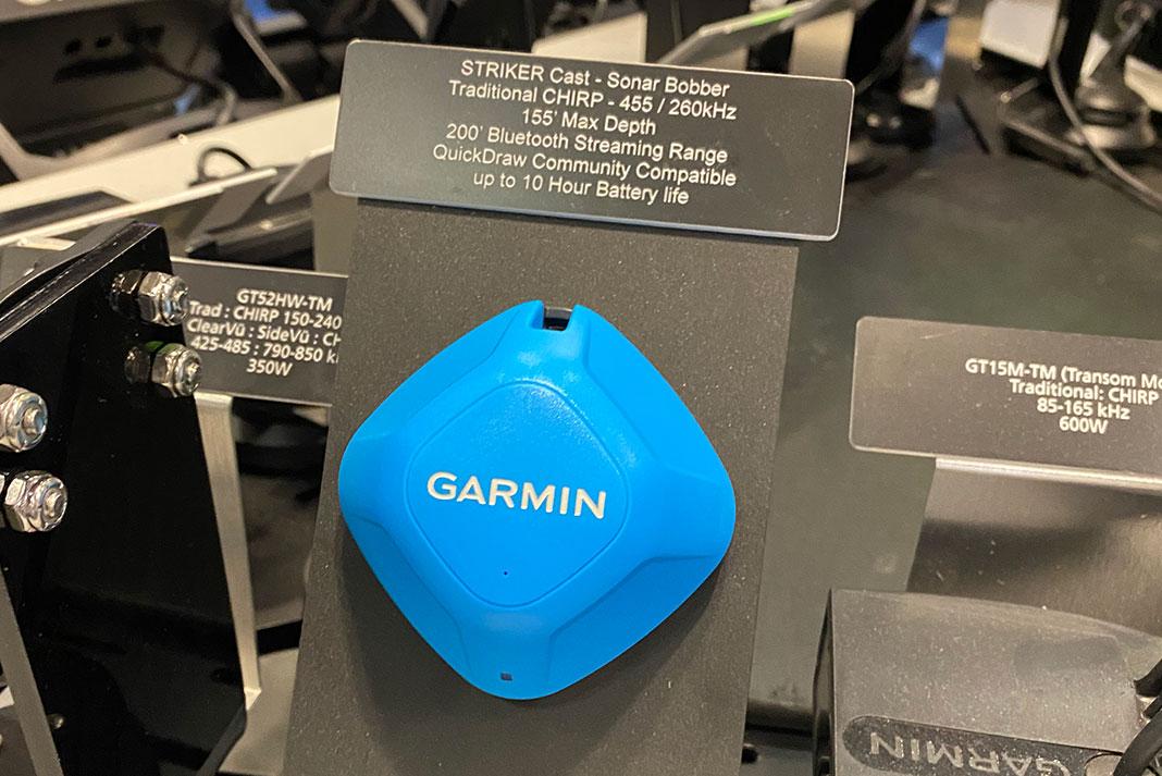 Garmin Striker Cast transducer at ICAST 2021