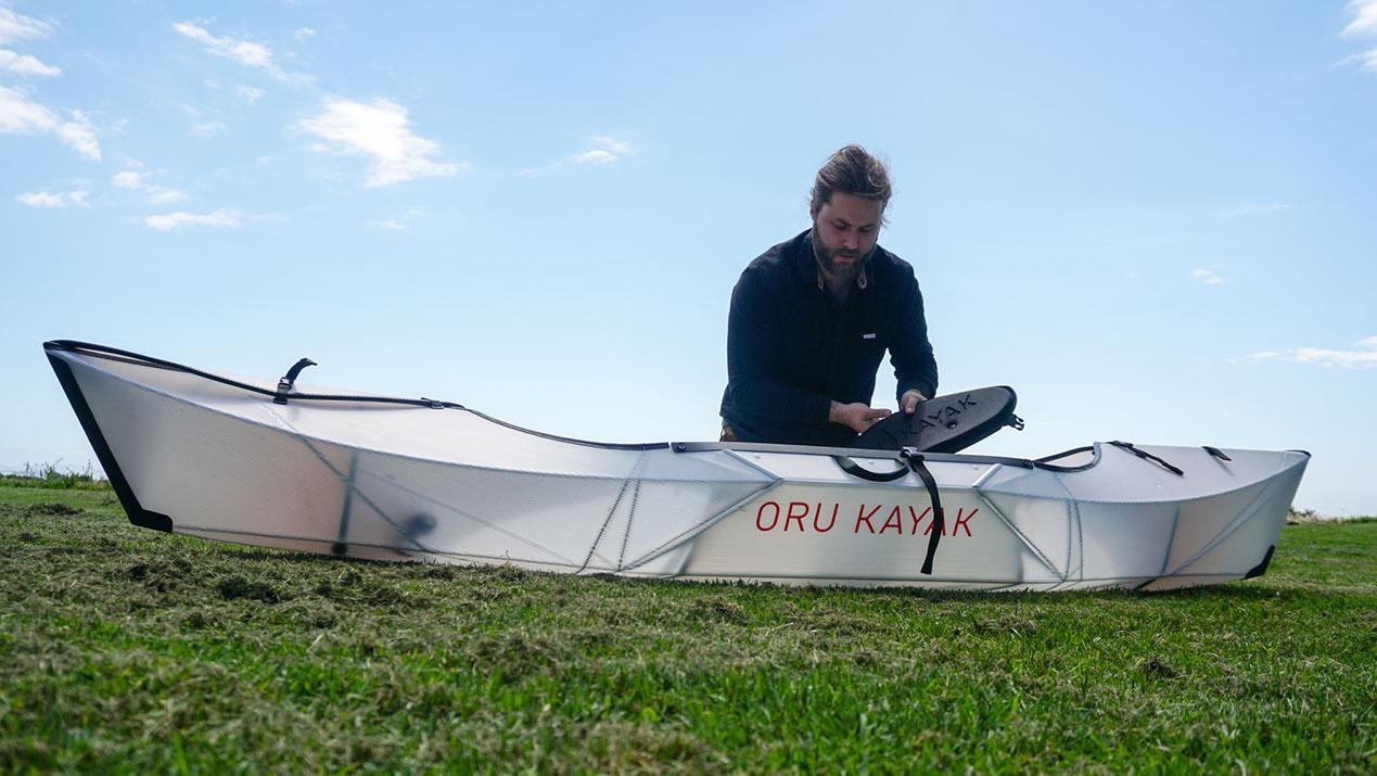Suitcase to fishing kayak.   Photo: Courtesy Oru Kayaks