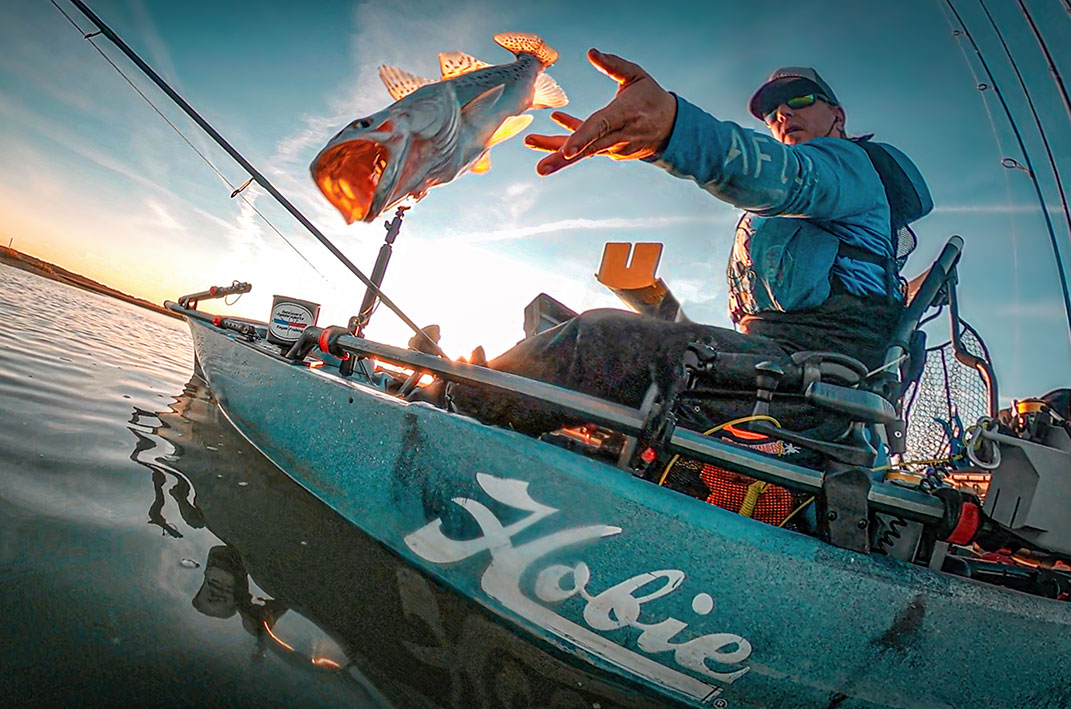 Release Over 20 inspires anglers to throw back big speckled trout. |Photo: Dave Inscore