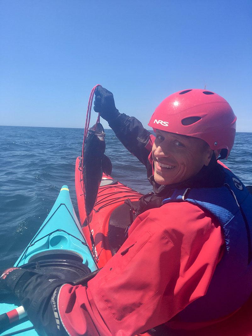 cabezon caught while handline fishing in Oregon
